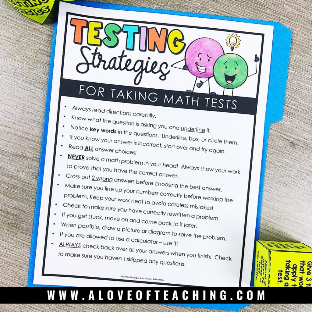 Fun Test Prep Testing Strategies Poster