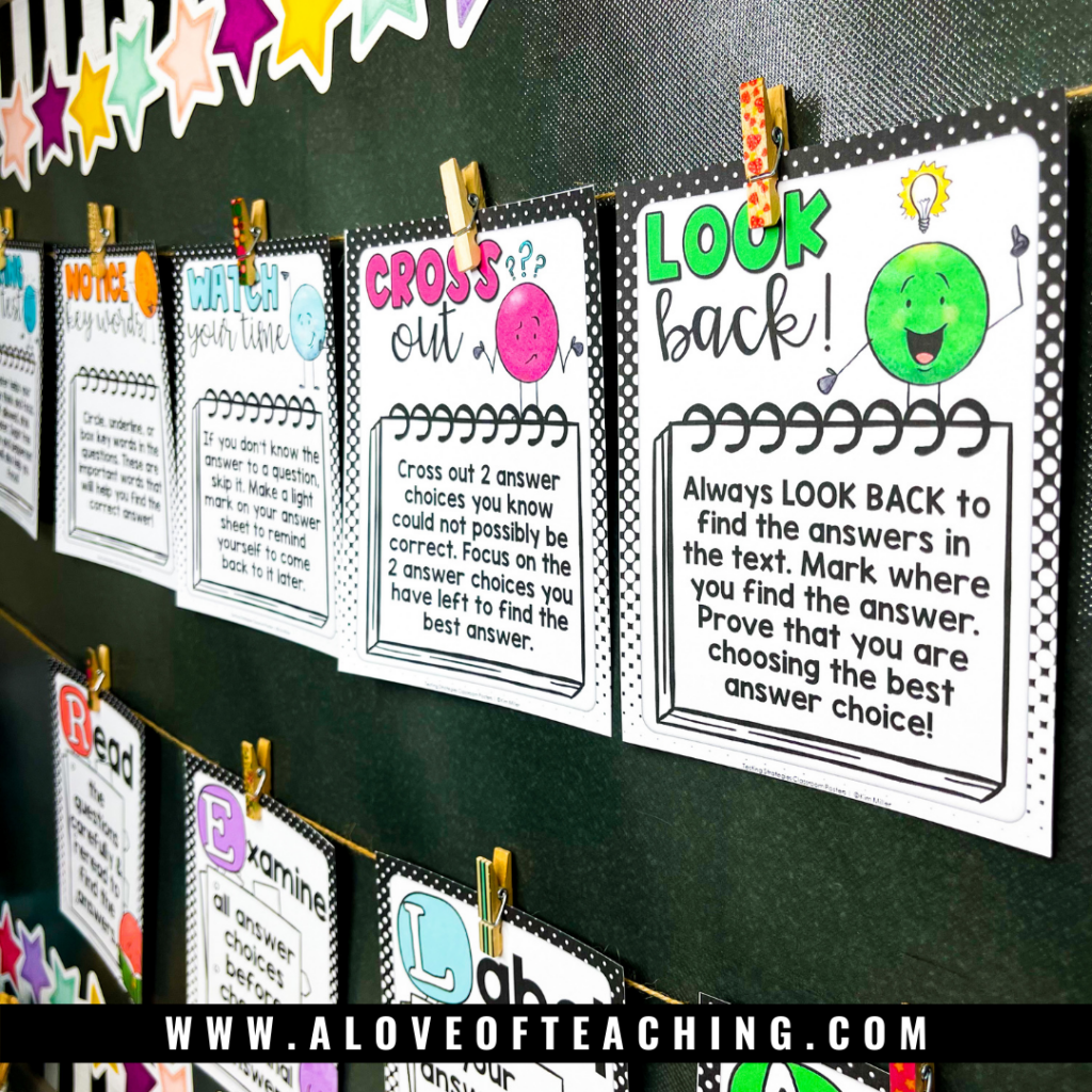 testing strategy posters are a great visual reminder of the strategies you've taught