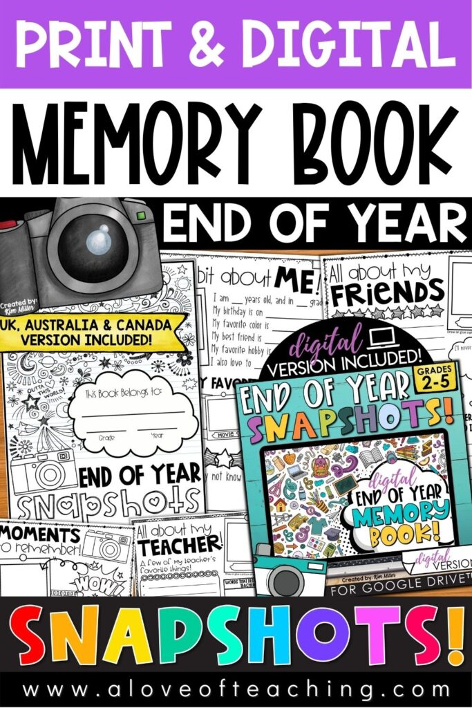 Unforgettable End of Year Memory Books
