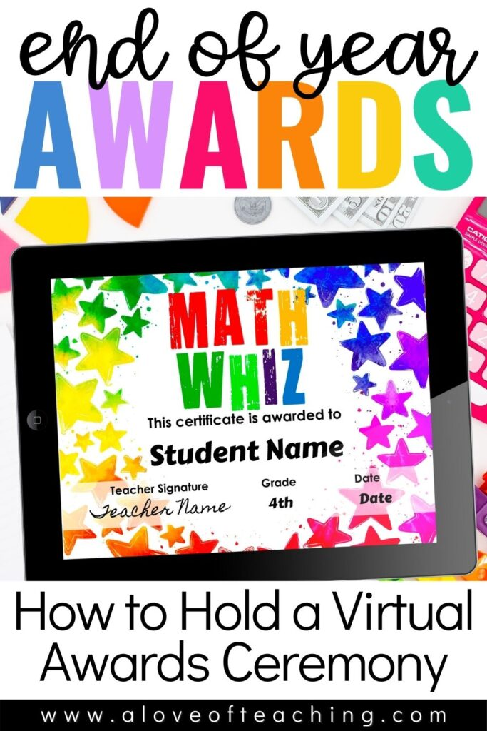 End of Year Awards Virtual Ceremony