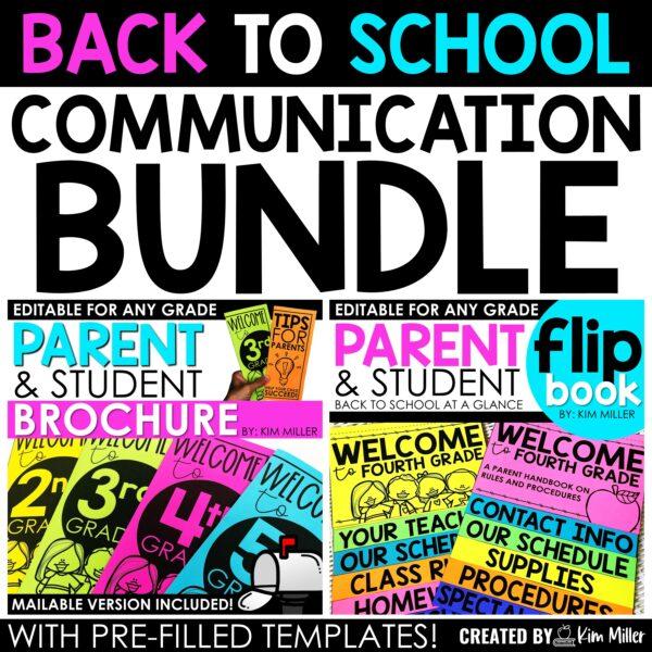 Back to School Communication Bundle