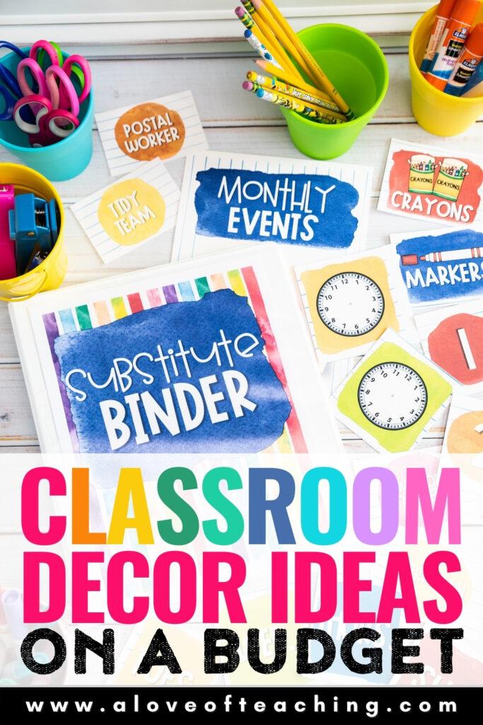Classroom Decor on a Budget
