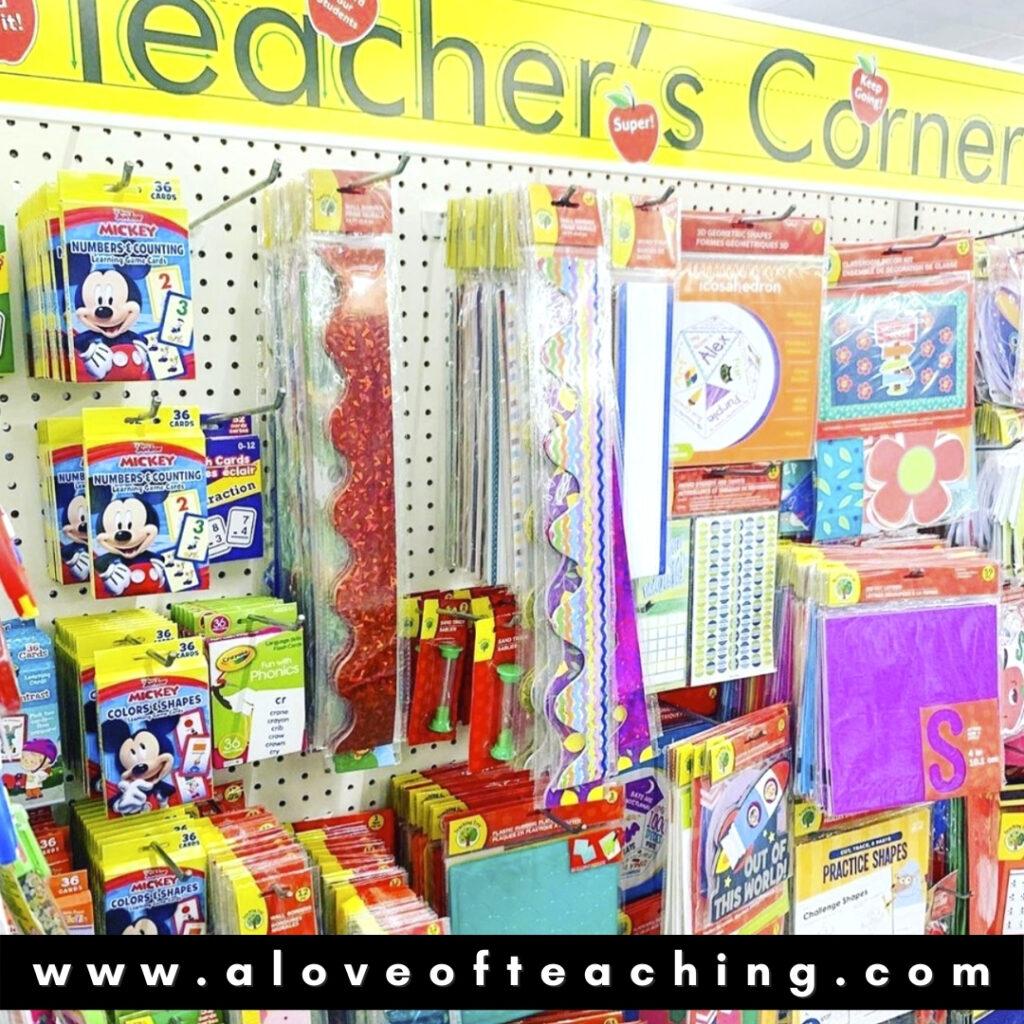 Dollar Tree's Teacher's Corner