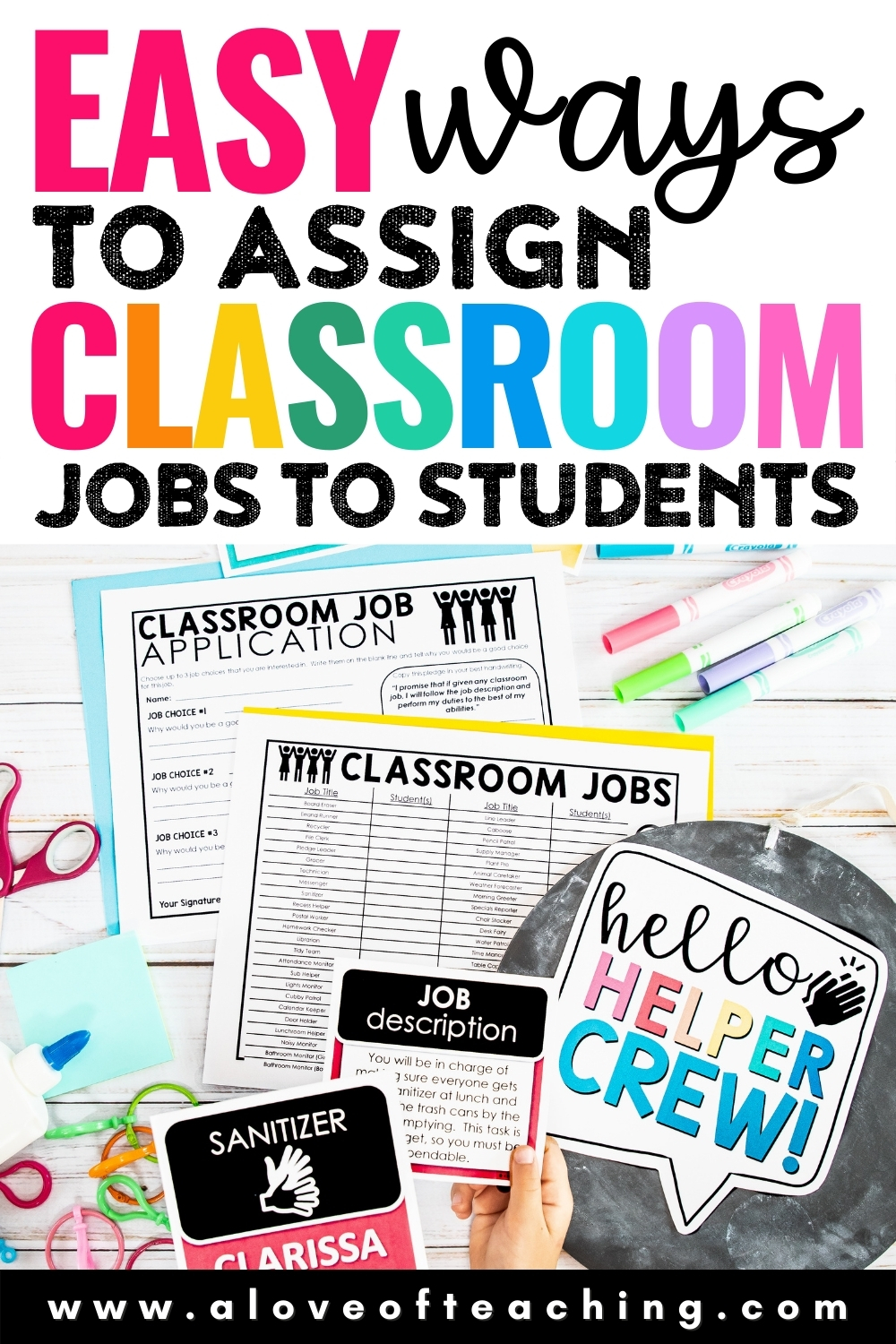 Easy Ways to Assign Classroom Jobs to Students