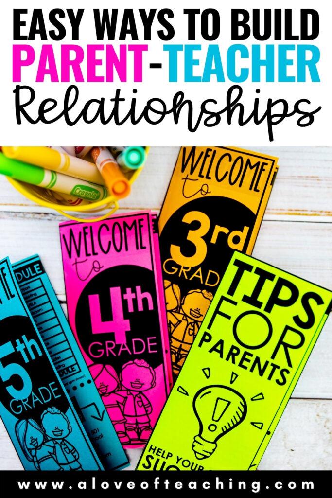 Easy Ways to Build Parent Teacher Relationships