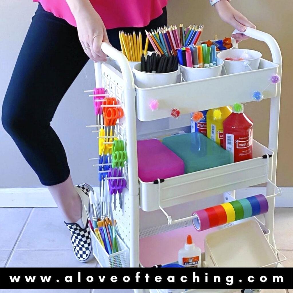 Michael's Stores Teacher Storage Cart