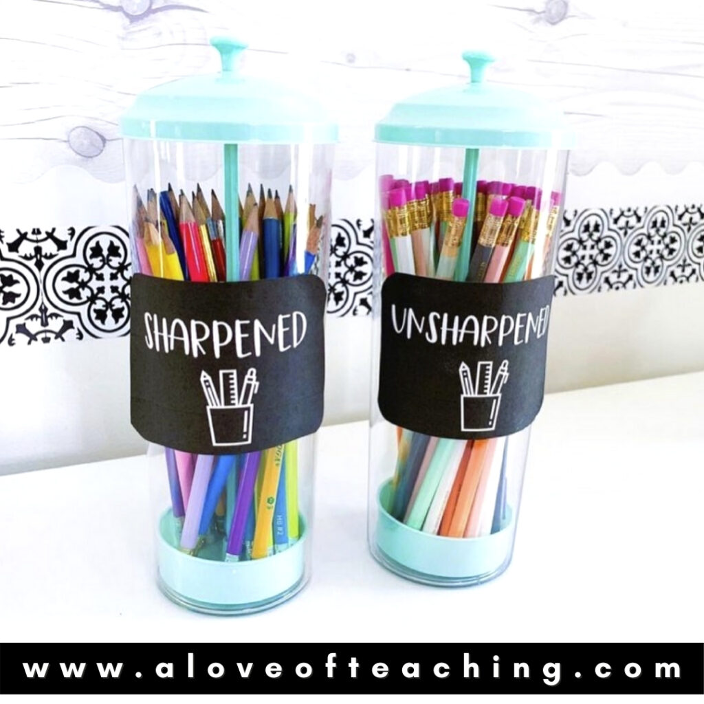 Pencil Holders from Target Dollar Spot