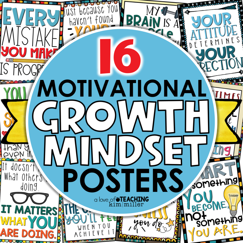 Classroom Growth Mindset Posters