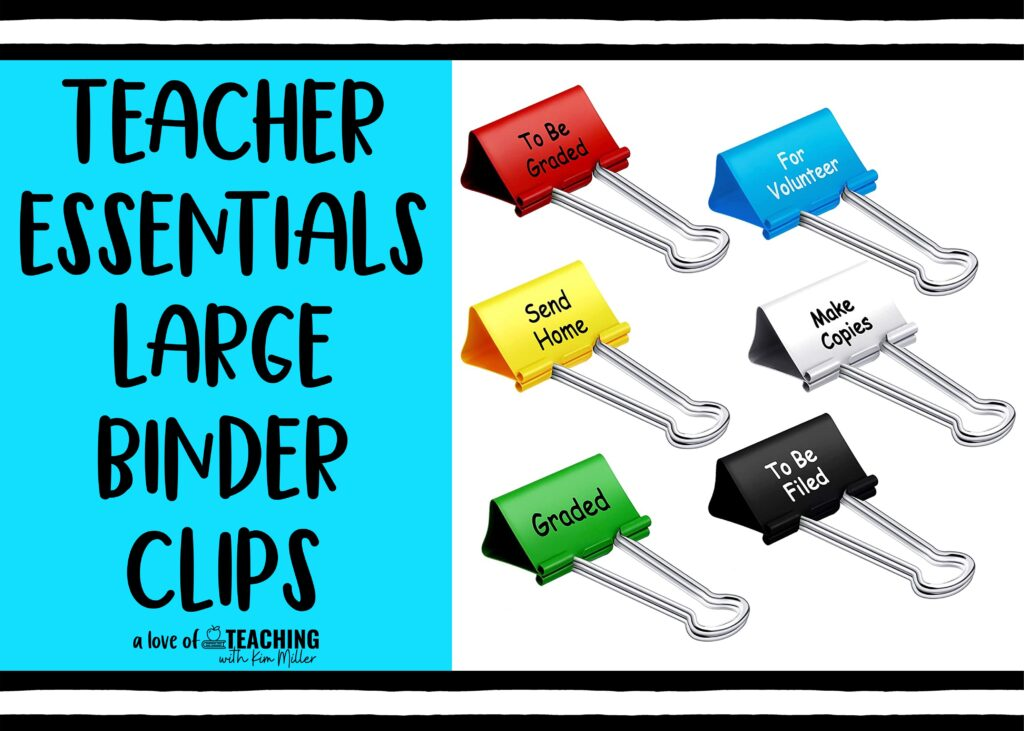 back to school must haves binder clips