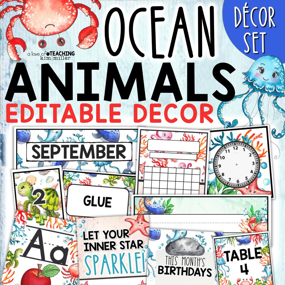 Ocean Animals Classroom Decor