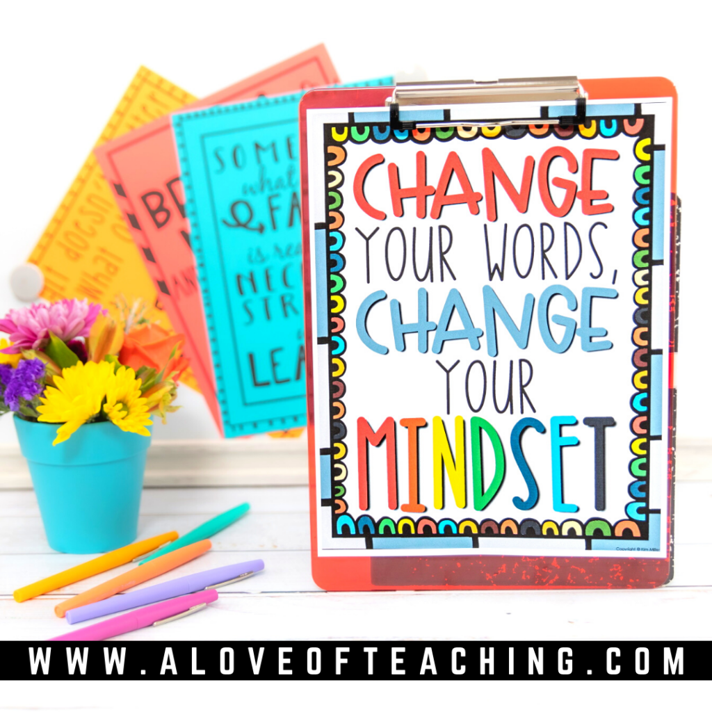 Motivational posters are a great way to remind your students to practice thinking with a growth mindset.