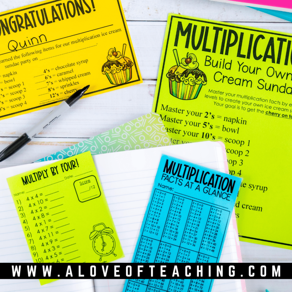 This fun multiplication facts incentive is just what you need to spice up your fluency practice.