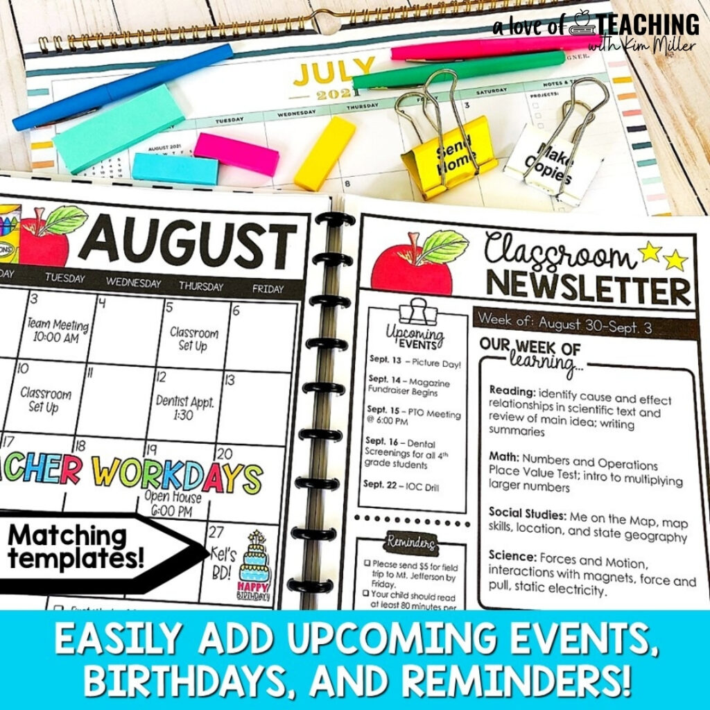 These editable calendars are perfect for class events, school reminders and other important news