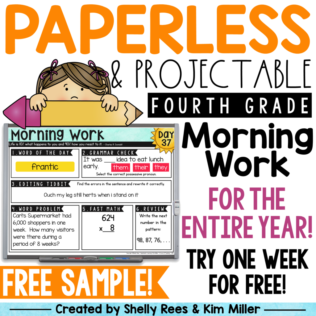 Be sure to grab your morning work FREE sample