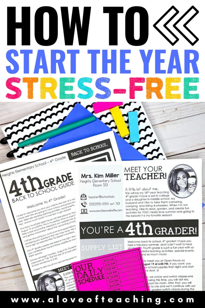 How to Start the School Year Stress Free