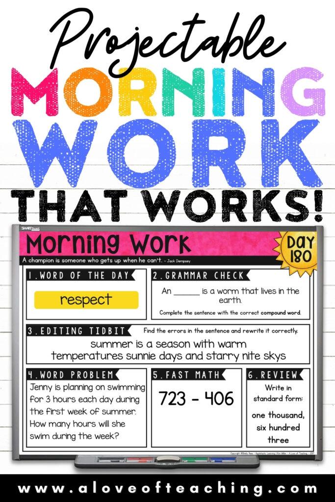 Paperless Morning Work