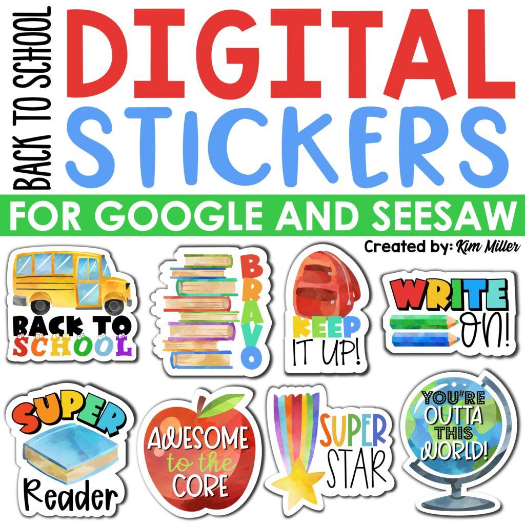 Back to School Digital Stickers
