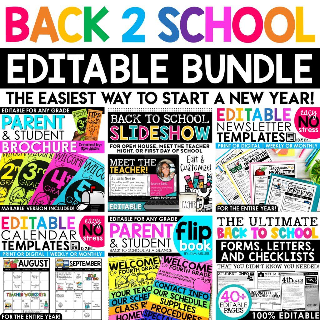 Back to School Editable Bundle