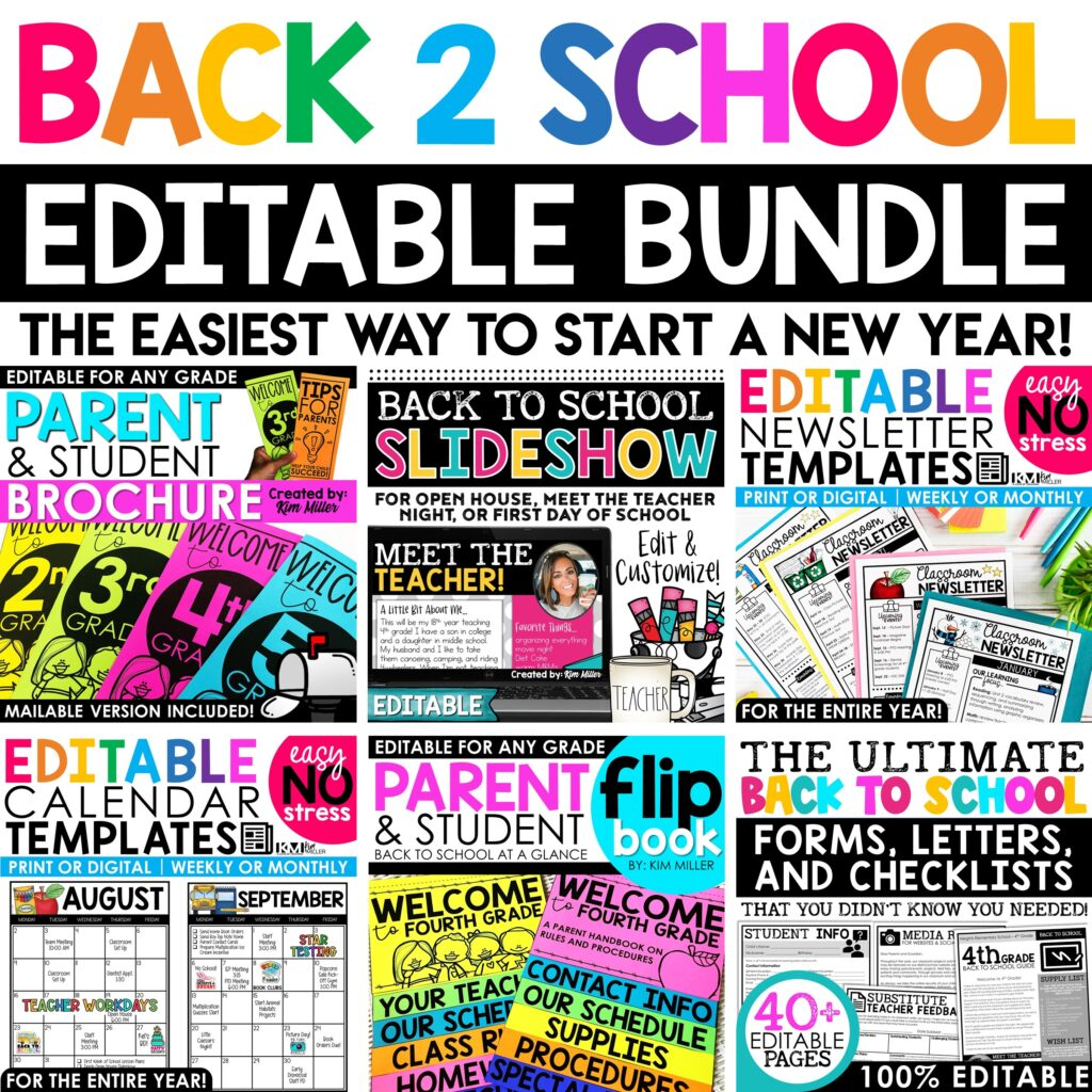 This back to school bundle has everything you need and more to start the year off stress free.