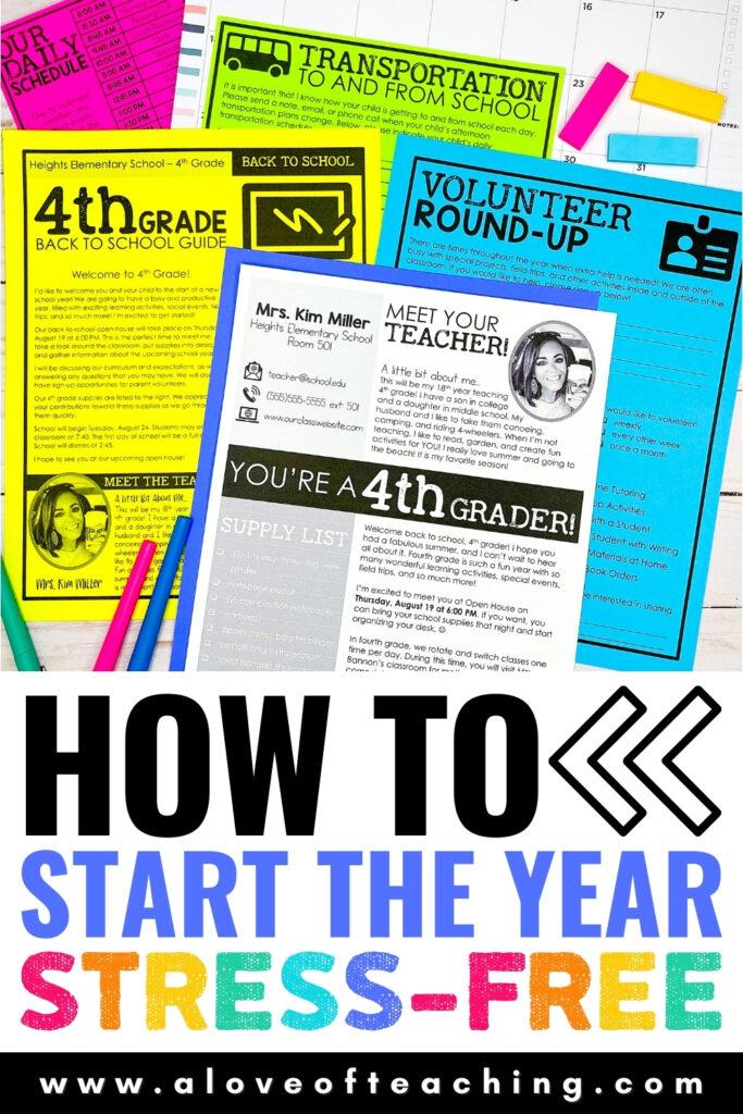 Stress Free Back to School Ideas