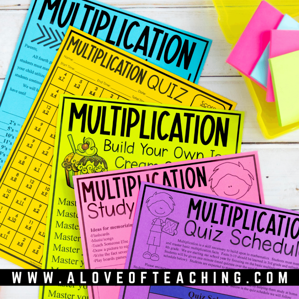 This ice cream incentive is a great way to engage students in mastering their multiplication facts.