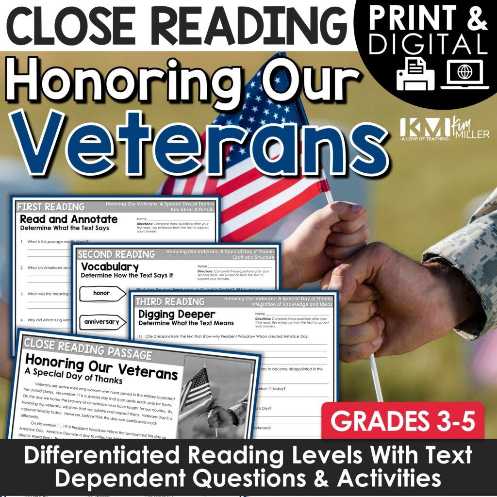 Veterans Day Close Reading