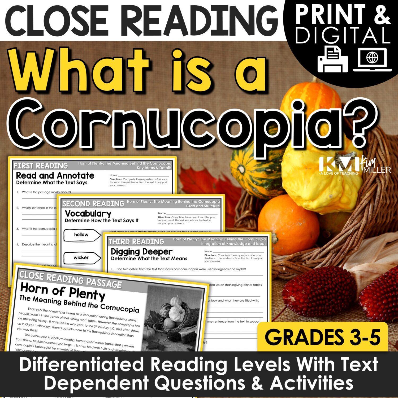 Cornucopia Close Reading