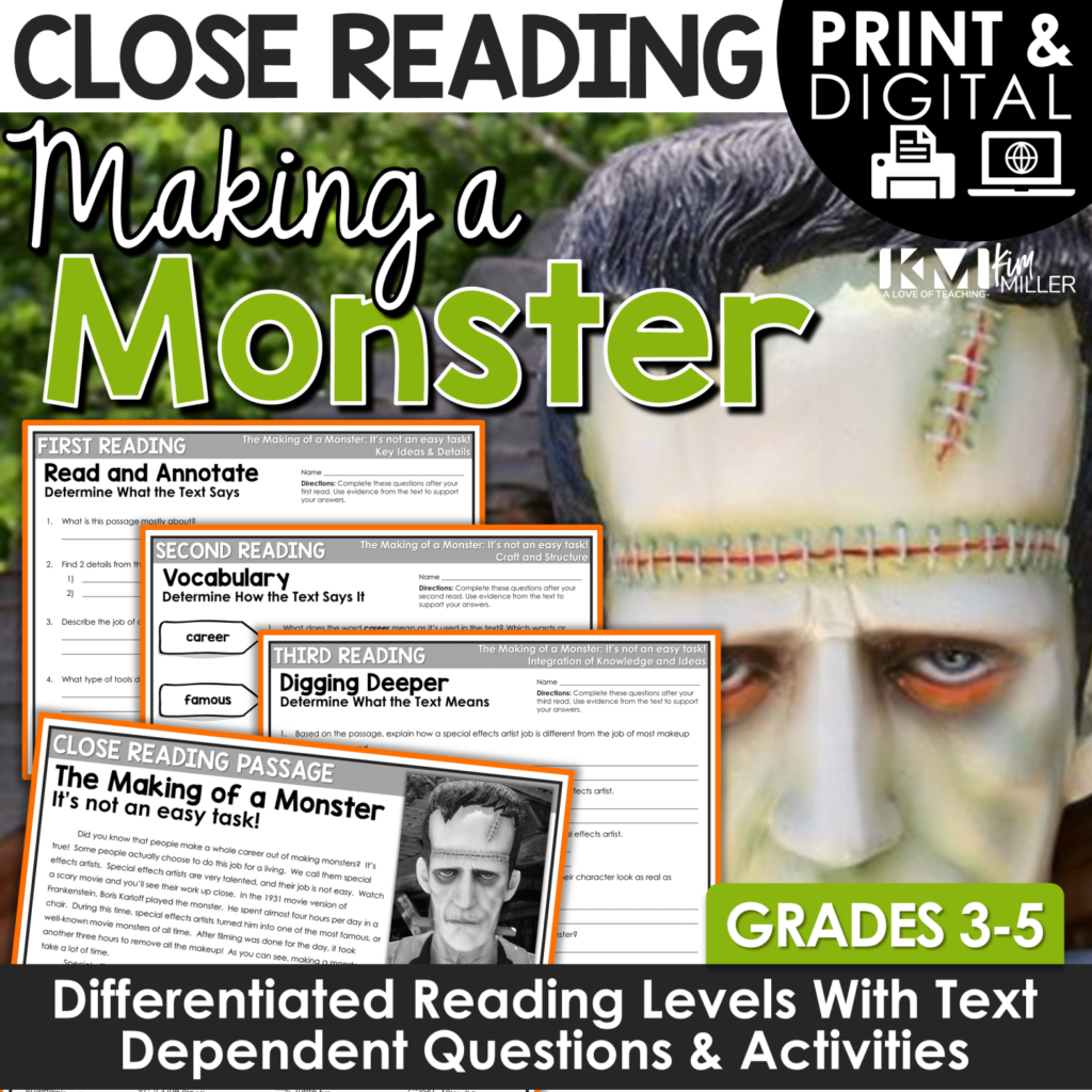 Monsters Close Reading