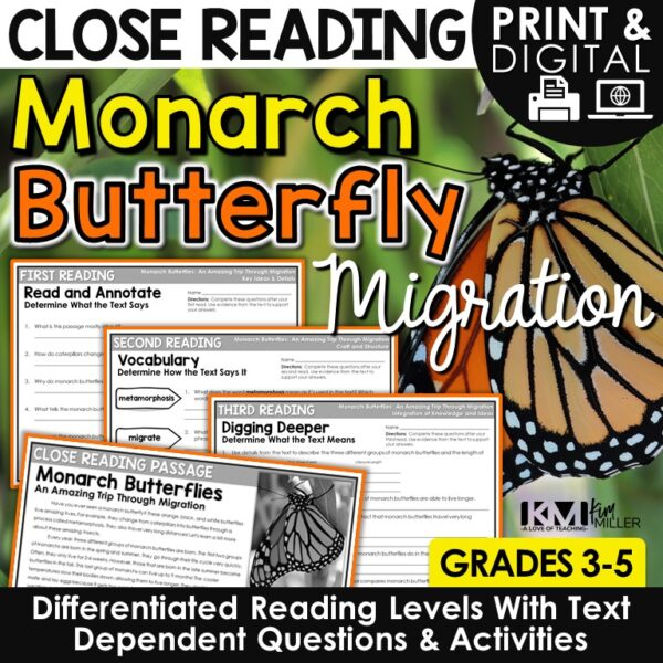 Monarch Butterfly Migration Close Reading