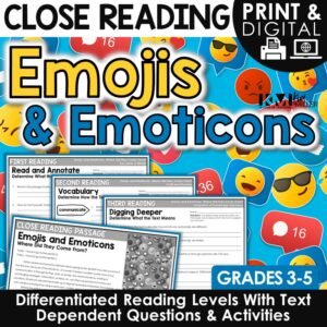Emojis and Emoticons Close Reading Lesson