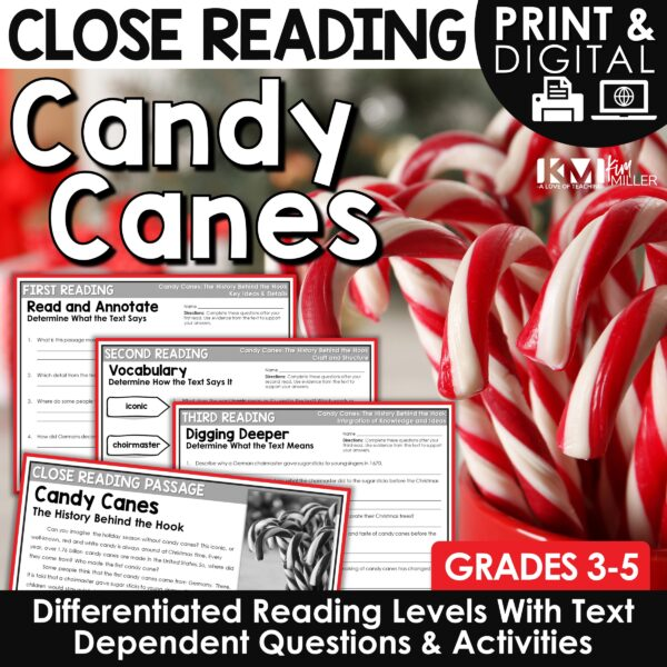 Candy Canes Close Reading