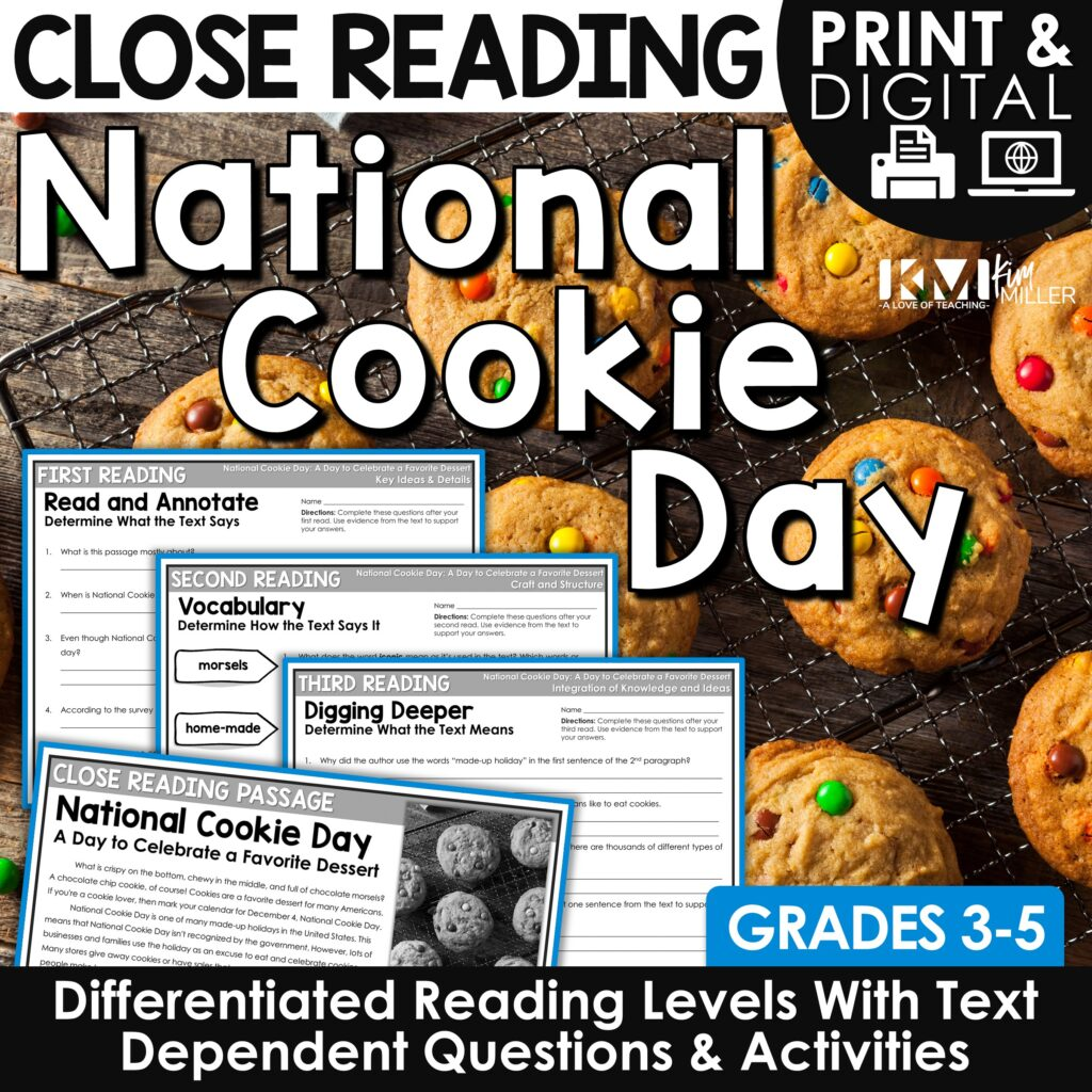 National Cookie Day Close Reading