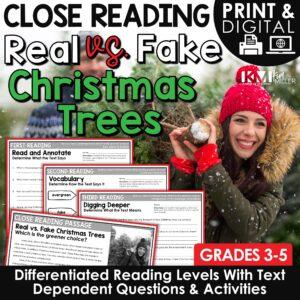 Real versus Fake Christmas Trees Close Reading