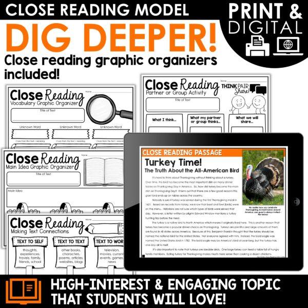 Turkey Time Close Reading