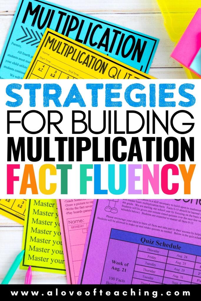 Strategies for Building Multiplication Fact Fluency